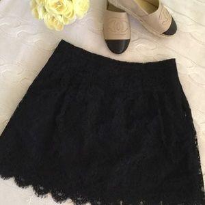 J. Crew Black Lace Skirt